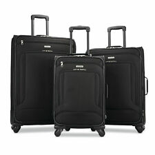 American Tourister Pop Max 3 Piece Luggage Spinner Set - 29/25/21(Black)