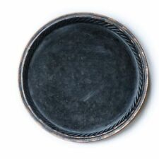 Vintage Style Metal Round Serving Tray French Country Distressed Rustic Shabby
