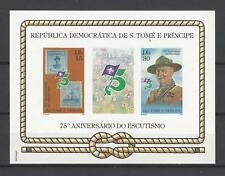 St. Thomas & Prince Islands 1982 Sc#659a  Boy Scouts,75th Anniv. MNH S/S $13.50