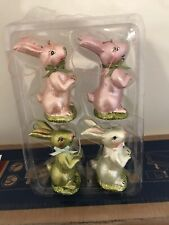 Ceramic Easter Bunny Set Of 2