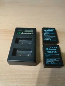 Battery Charger and Two Fujifilm Compatible Batteries NP-W126. Used