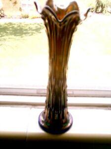 "Fenton April Showers Blue Vase 10 1/2"" Tall"