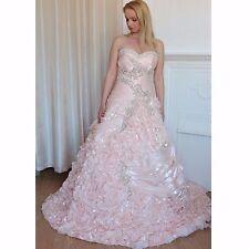 PINK RUFFLED PRINCESS DESIGNER WEDDING DRESS 8