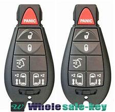 2pcs NEW Town & Country / Grand Caravan Fobik Remote Transmitter Key Fob + Blade