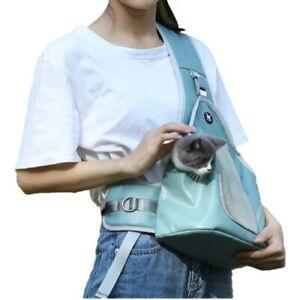Summer Breathable Mesh Travel Safe Sling Bag Dog Carrier Chest Bag for Dogs Cats