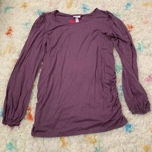 NEW Target Isabel Maternity Shirt Womens Large Purple NWT