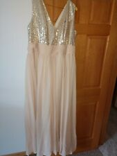 Womens size 22W Formal bridesmaid dress champagne GORGEOUS DRESS