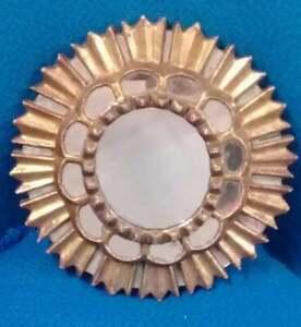 Stylish Colonial Mirror - Gold aplications - Super Rare