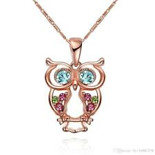 Fashion Owl Crystal Pendant Necklace Jewelry Made with Swarovski