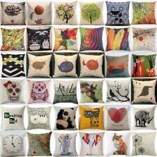 Home Decor Throw Pillow Cover Case Cotton Linen Sofa Chair Waist Cushion Cover