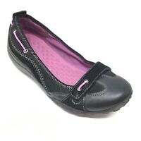 Women's Privo by Clarks Ballet Flats Loafers Shoes Size 6.5 B Black Slip On O3