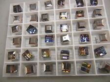 24 swarovski cube shaped crystal beads,8mm meridian blue #5601