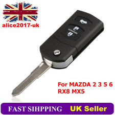 For MAZDA 2 3 5 6 RX8 MX5 3BTN Replacement Remote Flip Key Fob Case Blade UK*