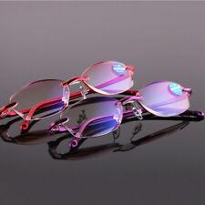 Glasses Ultralight Rimless Rectangular Reading Blue Light Spectacles Eyeglass