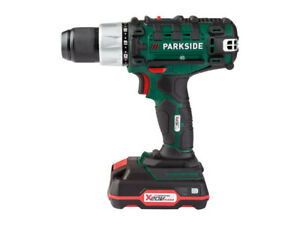 PARKSIDE 20V CORDLIESS DRILL PABS 20-Li E6 SET WITH BATTERY, CHARGER WITH BITS