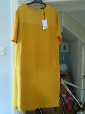 NEW Next tailoring ochre shift dress....size 18 ...rp £32