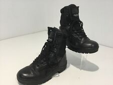 Mens Teens Youth Highlander High Lace Black Military Alpha Boots Uk5 Leather Vgc