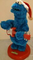 Gemmy Sesame Street Place Cookie Monster Blue Christmas Plush Animated 2005