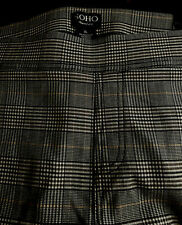 SOHO Apparel Ltd Women's  Plaid Dress Pants Flat Front Straight Stretch Size XL