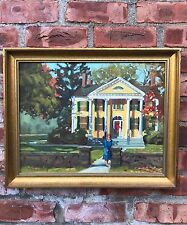 Post Impressionist Oil Painting. Florence Griswold House. Signed Beth Rundquist