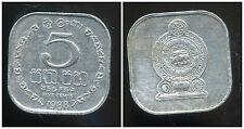 SRI LANKA  5 cents 1988 ( bis )