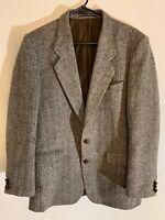 Vintage Harris Tweed Men's Multicolor Brown Herringbone Sport Coat Blazer 38