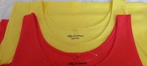 New (NWOT) Ladies George Asda Orange & Yellow  2 Coloured Longline Vest Tops 18