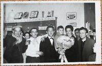 Realphoto Bar Interior 1940s Postcard - Cigar Smoking Man, Tiger Beer Sign