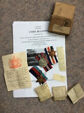 More details for ww2 raf lancaster casualty medal boxed group - f/o pilot c beatson - kia 1st op