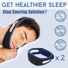 2PCS Anti Snore AntiSnore Device Jaw Strap Stop Snoring Solution Chin Support