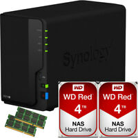 Synology DS218+ DiskStation w/4GB RAM 8TB (2 x 4TB) Western Digital NAS Drives