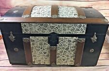 Antique Dome Top Trunk 1880 1900 Restored Camelback Refurbished Steamer EXC!