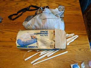 RETRO WENZEL SPACE COMMAND PLAY TENT BED TOY VTG NASA MARS BASE SET RARE BOX