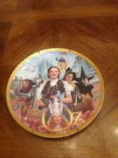 """Wizard Of Oz"" Commemorative 9"" Round Plate Used Hanger Is Included"