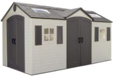 Lifetime Garden Sheds 60079 8 x 15 ft Dual Entry Plastic Storage Shed