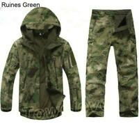 Mens Winter Hunting Clothes Outdoor Waterproof Thicken Jacket Coat + Pants Suits