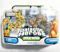 C-3PO Chewbacca Star Wars Galactic Heroes Action Figure Toy NEW 2004