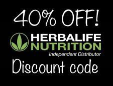 HERBALIFE NUTRITION 40% OFF DISCOUNT CODE