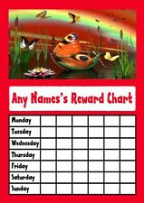 Red Butterfly Star Sticker Reward Chart