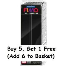 Fimo Professional Polymer Modelling Oven Bake Clay 350g Black