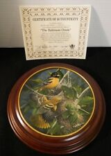 1985 Baltimore Oriole 3rd Edition Knowles Birds Of Your Garden W Custom Frame