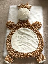 Best Ever Giraffe Baby Infant Cuddle Buddy Plush Play Mat Rug Baby Shower Gift