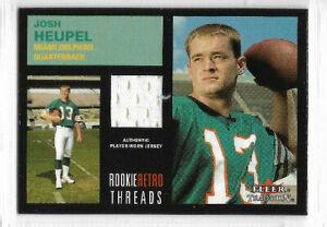 2001 Fleer Tradition - Rookie Retro Thread #JOHE Josh Heupel - Miami Dolphins