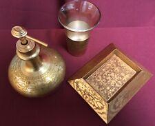 Croscill Home Bath Accessories: Cup / Soap Dish / Lotion Dispenser 3pc Gold Set