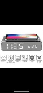 Fast Wirless Charging Pad And Alarm Clock