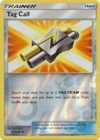 4x Tag Call 206/236 Cosmic Eclipse Pokemon Playset x4 Reverse Holo NM