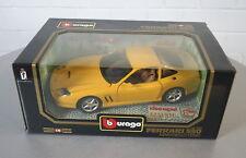 Burago 1/18 Ferrari 550 Maranello (1996) Gelb -3064- DieCast Modell Auto NEU OVP