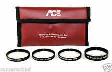 49mm HD Digital High Definition Close-Up Macro Lens Filter Kit Set 4 DSLR Camera