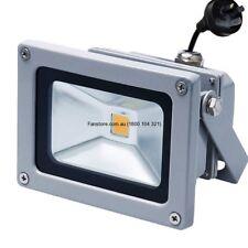 10W Grey Flood Light 3000k Warm White With Flex & Plug Plusrite
