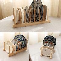 Tellerständer Holz Geschirr Ständer Tellerhalter Geschirrhalter Brettchen G L0Z1